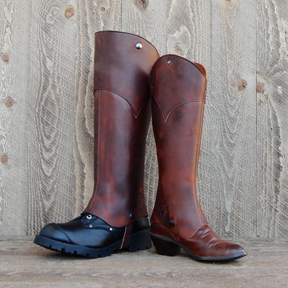 d3Riffs Designer Half Chaps in Snakebite Leather